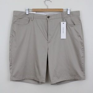 Calvin Klein Plaza Taupe Casual Shorts Flat Front